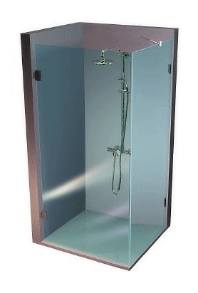New glass zuhanykabin kép
